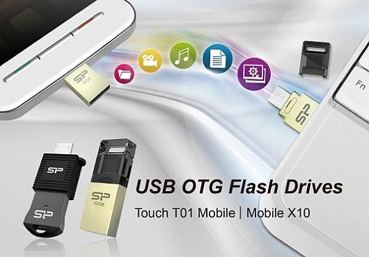 USB накопители Mobile X10 и Touch T01 Mobile от Silicon Power.