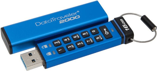 Kingston DataTraveler 2000 - шпионская флешка с клавиатурой.