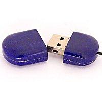 Открытая USB флешка из камня лазурит (Афганистан)