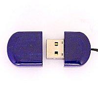 Открытая USB флешка из камня лазурит (Афганистан): вид сверху