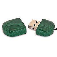 Открытая USB флешка из камня малахит
