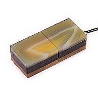 Общий вид USB флешки из камня агат