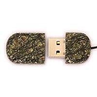 Открытая USB флешка из камня змеевик: вид сверху