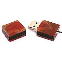 Открытая USB флешка из камня агат