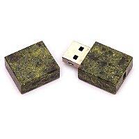 Открытая USB флешка из камня змеевик