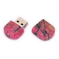 Открытая USB флешка из камня родонит