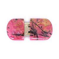 Открытая USB флешка из камня родонит: вид сверху