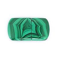 Закрытая USB флешка из камня малахит: вид сверху