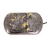 Закрытая USB флешка из камня змеевик: вид снизу
