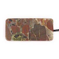 Закрытая USB флешка из камня яшма: вид снизу