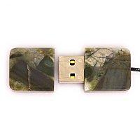 Открытая USB флешка из камня яшма: вид сверху
