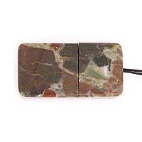 Закрытая USB флешка из камня яшма: вид сверху