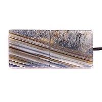 USB флешка из узорчатого агата с включениями кварца: вид сверху