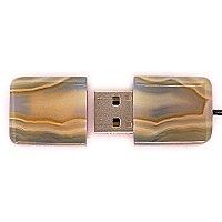 USB флешка из узорчатого агата: вид сверху