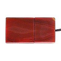 USB накопитель из узорчатого агата: вид снизу