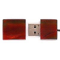 USB накопитель из узорчатого агата: вид сверху