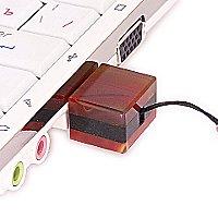 USB накопитель из узорчатого агата: в ноутбуке