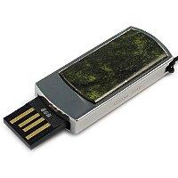 Сувенирная флешка со змеевиком: USB разъем выдвинут