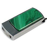 Подарочная флешка с малахитом: общий вид