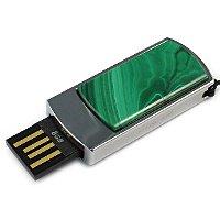 Сувенирная флешка с малахитом: USB разъем выдвинут