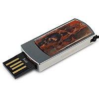 Сувенирная флешка с уральской яшмой: USB разъем выдвинут