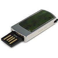 Сувенирная флешка с камнем нефрит: USB разъем выдвинут