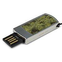 Подарочная флешка с камнем змеевик: USB разъем выдвинут
