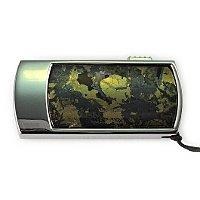 Флешка в металлическом корпусе с гематитом: вид сверху