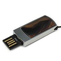 Сувенирная флешка с агатом: USB разъем выдвинут