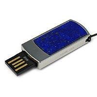 Подарочная флешка с лазуритом: USB разъем выдвинут