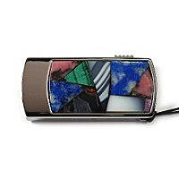 Промо-флешка в металлическом корпусе с мозаикой: вид сверху