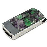 Подарочная флешка с камнем флюорит: общий вид