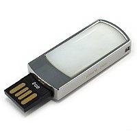 Подарочная флешка в металлическом корпусе с кахолонгом: USB разъем выдвинут