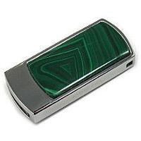 USB флеш-накопитель инкрустированный малахитом: общий вид