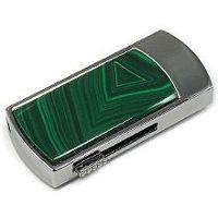 USB flash с малахитом: надежный фиксатор