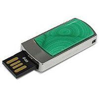 USB накопитель с малахитом: разъем выдвинут