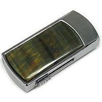 USB флеш-накопитель инкрустированный тигровым глазом: общий вид