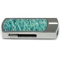 Амазонитовый USB диск: вид сбоку