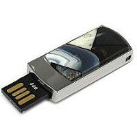 USB flash с мозаикой: разъем выдвинут