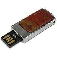 USB накопитель с яшмой: разъем выдвинут