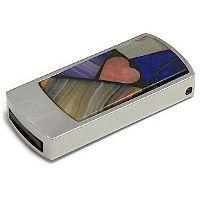 Любовная USB флешка с мозаикой: общий вид